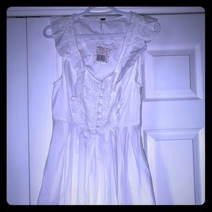 Free people white sundress lace detail small